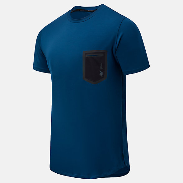 New Balance Fortitech Pocket Tee, MT03173RGV