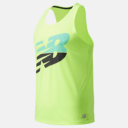 New Balance Printed Accelerate Singlet, MT03202BIO image number null