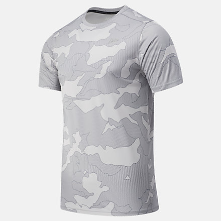 New Balance Printed Accelerate Short Sleeve, MT03204BGR image number null