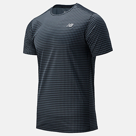 New Balance Printed Accelerate Short Sleeve, MT03204BKM image number null