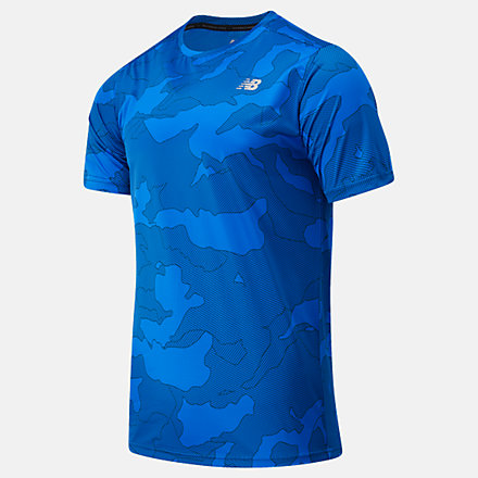 New Balance Printed Accelerate Short Sleeve, MT03204CBB image number null