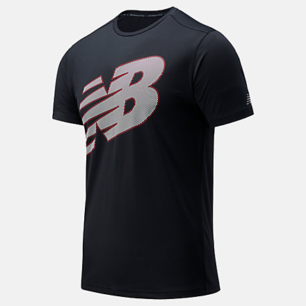 New Balance Printed Accelerate Short Sleeve, MT03204HOR image number null