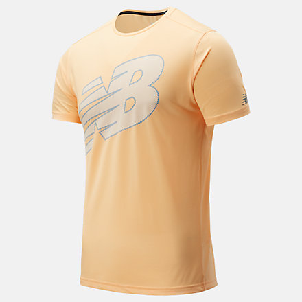 NB Printed Accelerate Short Sleeve, MT03204LMO image number null
