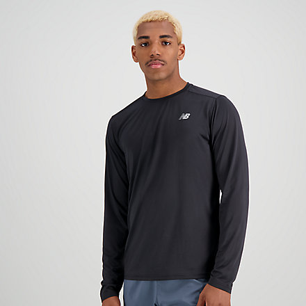 New Balance Accelerate Long Sleeve, MT03205BK image number null