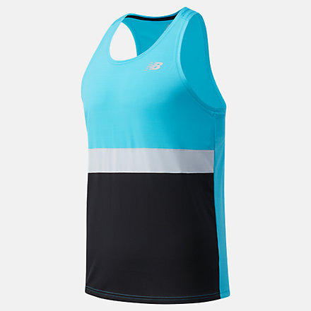 NB Striped Accelerate Singlet, MT03206VLS image number null