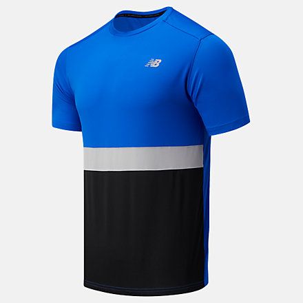 New Balance Striped Accelerate Short Sleeve, MT03207CO image number null