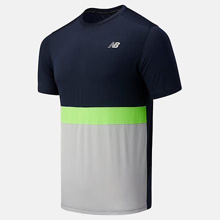 New Balance Striped Accelerate Short Sleeve, MT03207EM1 image number null