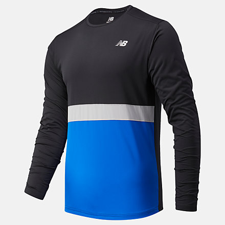 New Balance Striped Accelerate Long Sleeve, MT03208CO image number null