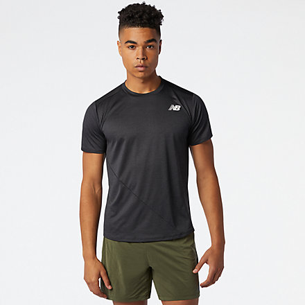 New Balance Fast Flight Short Sleeve, MT03222BK image number null