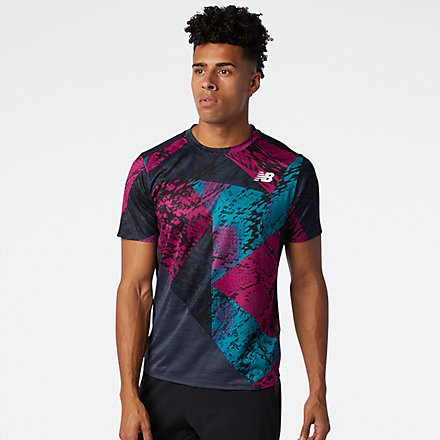 New Balance Printed Fast Flight Short Sleeve, MT03223JJL image number null