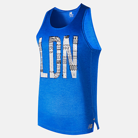 NB London Acceptance Printed Impact Run Singlet, MT03233DFCB image number null
