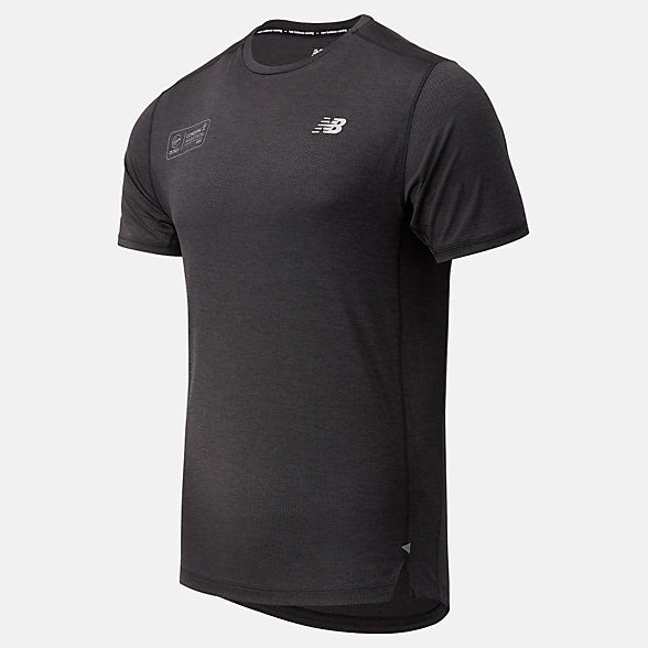NB London Acceptance Impact Run Short sleeve top, MT03234DBKH