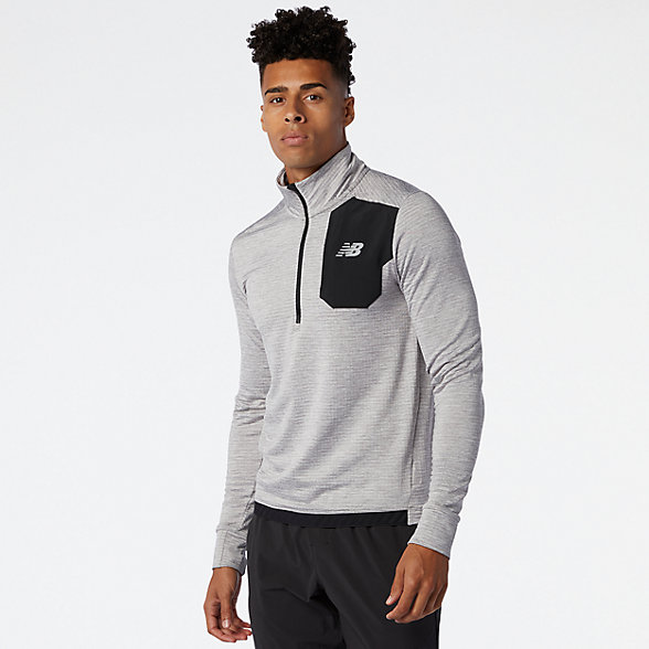 NB NB HEAT GRID HALF ZIP, MT03255AG