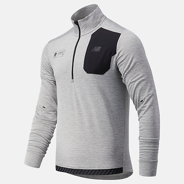 NB Top London Acceptance NB Heat Grid Half Zip, MT03255DAG