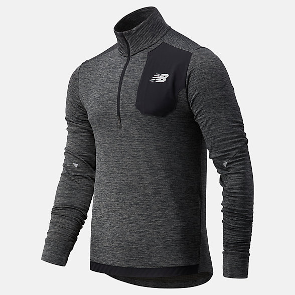 NB NB HEAT GRID HALF ZIP, MT03255HC
