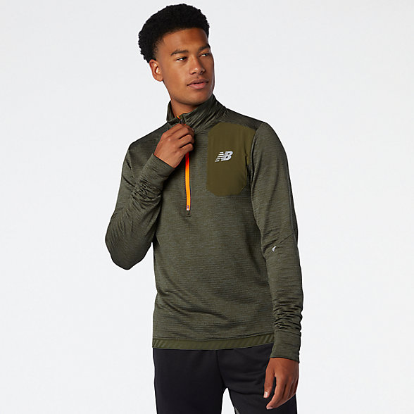 NB Impact Run Grid Back Half Zip, MT03255OG1