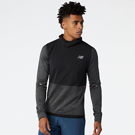 New Balance Impact Run Grid Back Hoodie, MT03256HC image number null
