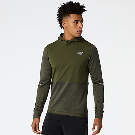 New Balance Impact Run Grid Back Hoodie, MT03256OG1 image number null