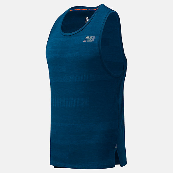 New Balance Q Speed Fuel Jacquard Tank, MT03260RWH