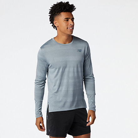 New Balance Q Speed Fuel Jacquard Long Sleeve, MT03262AG image number null