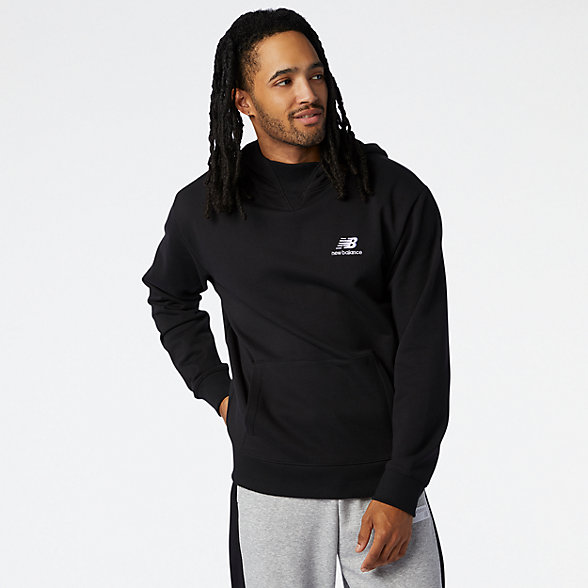 NB NB Athletics Village Fleece Pullover, MT03505BK