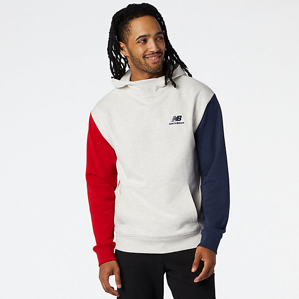 NB NB Athletics Village Fleece Pullover, MT03505SAH