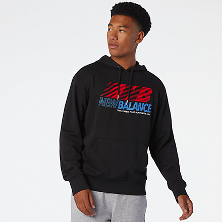 New Balance Essentials Speed Hoodie, MT03508BK image number null
