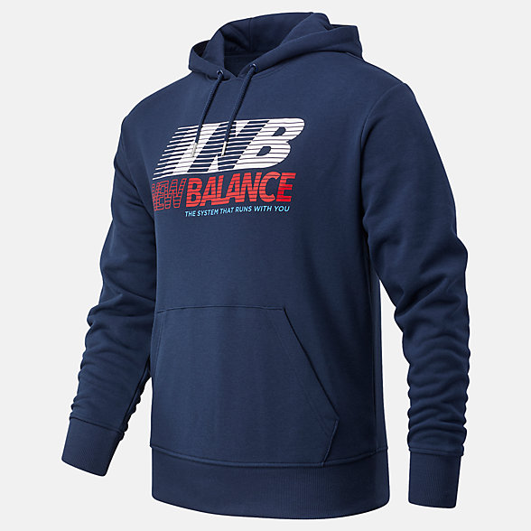New Balance Essentials Speed Hoodie, MT03508NGO