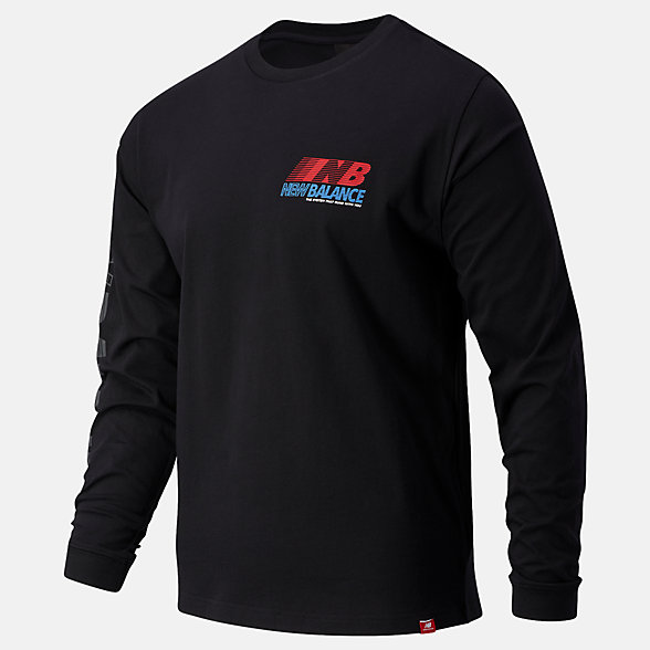 New Balance Essentials Speed Long Sleeve Tee, MT03510BK
