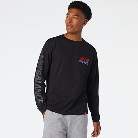 New Balance Essentials Speed Long Sleeve Tee, MT03510BK image number null