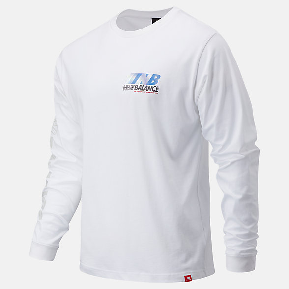 New Balance Essentials Speed Long Sleeve Tee, MT03510WT