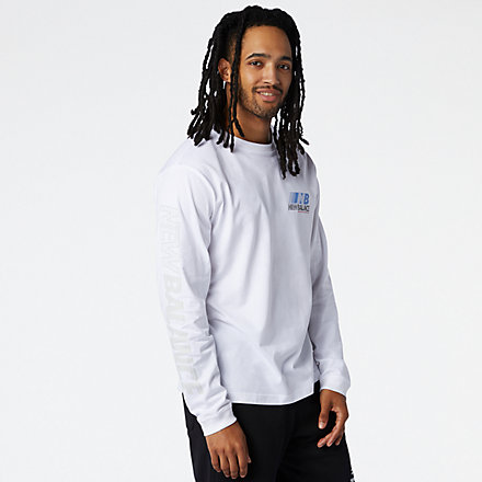 New Balance Essentials Speed Long Sleeve Tee, MT03510WT image number null