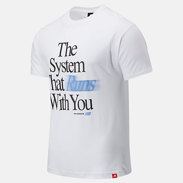 New Balance Essentials System Tee, MT03512WT