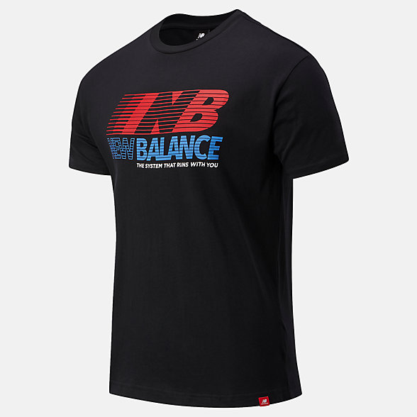 NB Essentials Speed Action Tee, MT03513BK
