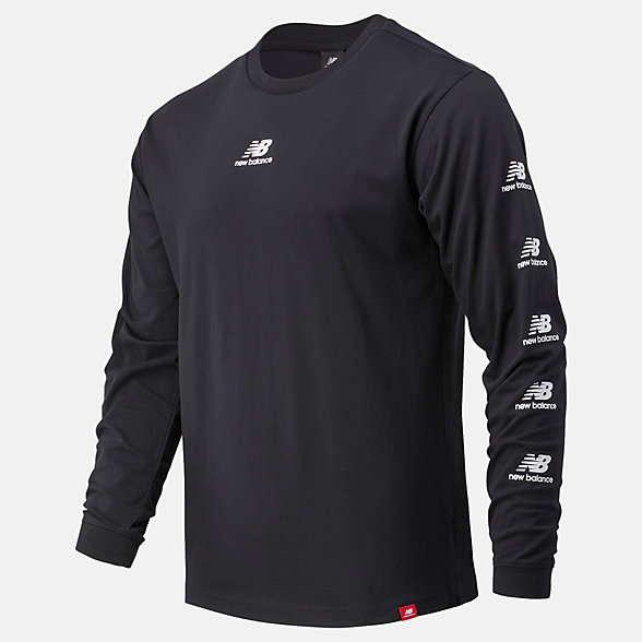 New Balance Essentials Stack Pack Long Sleeve Tee, MT03522BK