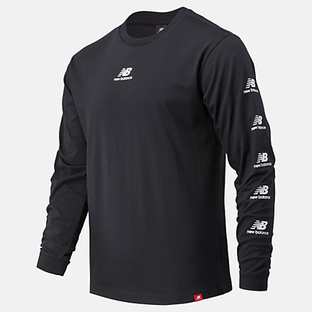 New Balance Essentials Stack Pack Long Sleeve Tee, MT03522BK image number null