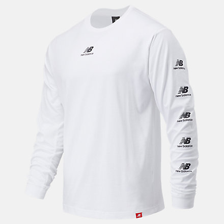 New Balance Essentials Stack Pack Long Sleeve Tee, MT03522WT image number null
