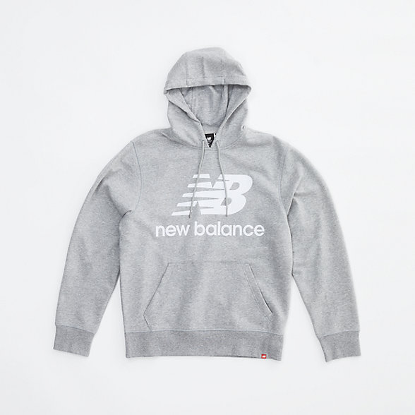 New Balance NB Essentials Stacked Logo Po Hoodie, MT03558AG