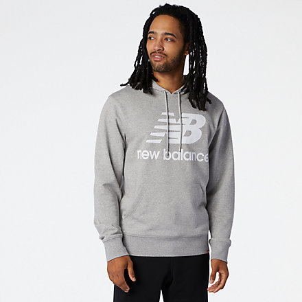NB NB Essentials Stacked Logo Po Hoodie, MT03558AG image number null