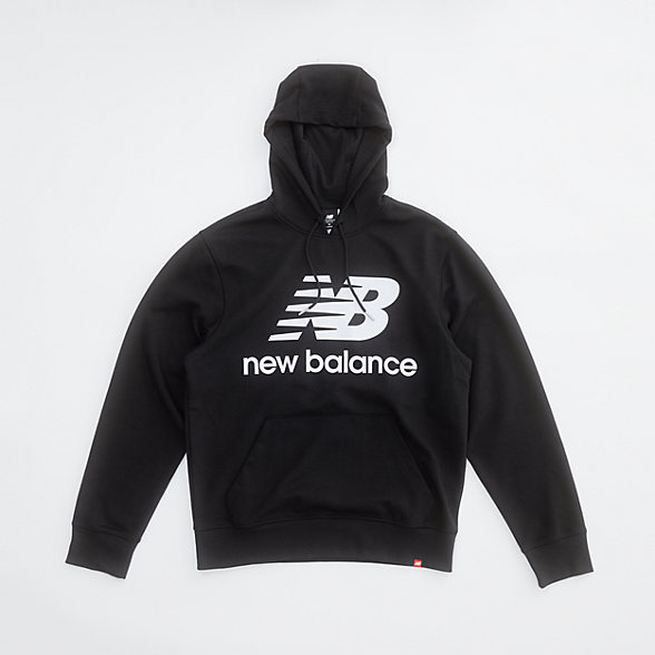 New Balance NB Essentials Stacked Logo Po Hoodie, MT03558BK