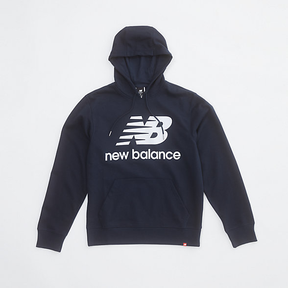 New Balance NB Essentials Stacked Logo Po Hoodie, MT03558ECL