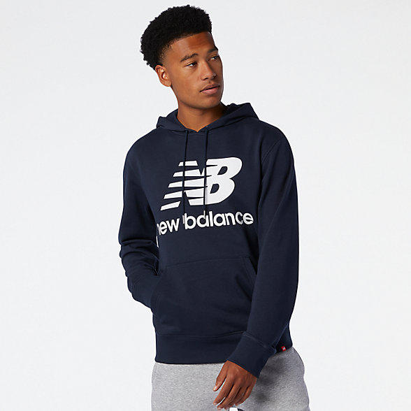 NB NB Essentials Stacked Logo Po Hoodie, MT03558ECL