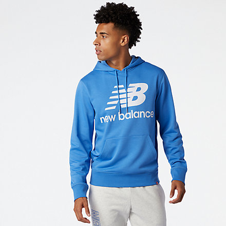 New Balance NB Essentials Stacked Logo Po Hoodie, MT03558FCB image number null