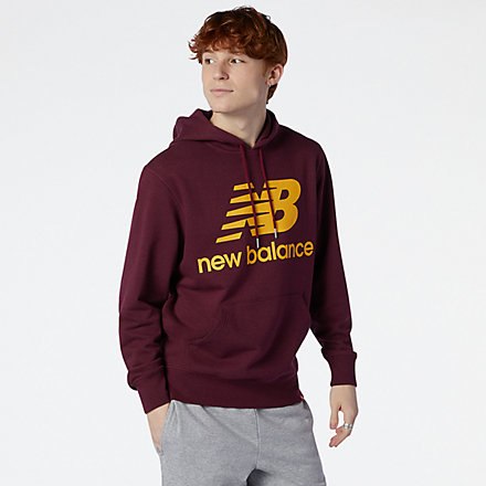 New Balance NB Essentials Stacked Logo Po Hoodie, MT03558GTH image number null