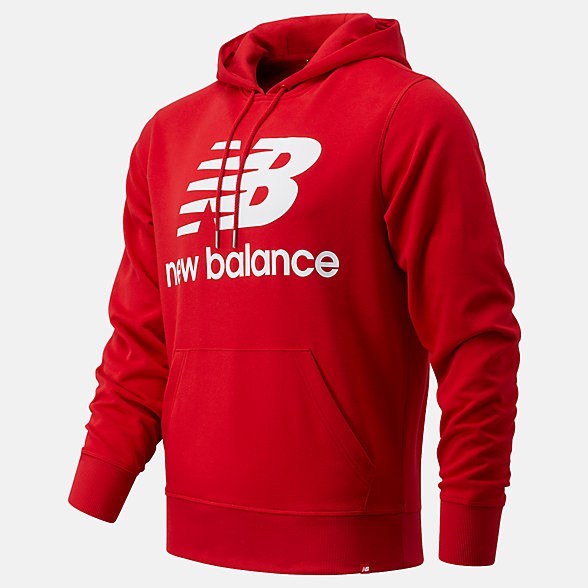 New Balance NB Essentials Stacked Logo Po Hoodie, MT03558REP