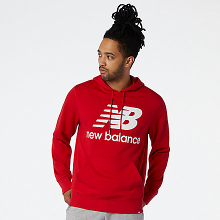 New Balance NB Essentials Stacked Logo Po Hoodie, MT03558REP image number null