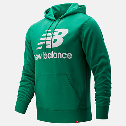 New Balance NB Essentials Stacked Logo Po Hoodie, MT03558VGN image number null