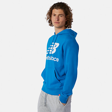 New Balance NB Essentials Stacked Logo Po Hoodie, MT03558WAB image number null