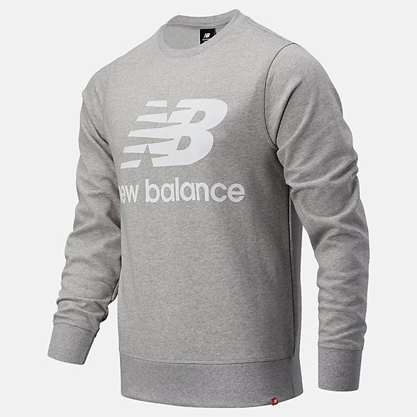 New Balance NB Essentials Stacked Logo Crew, MT03560AG