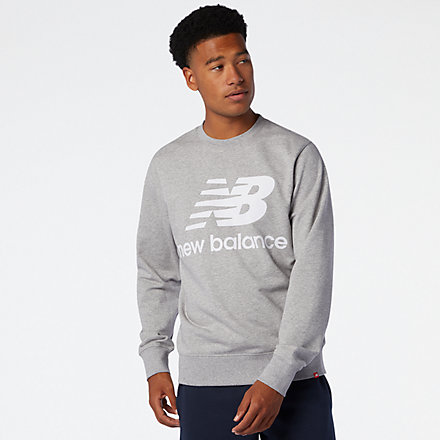 New Balance NB Essentials Stacked Logo Crew, MT03560AG image number null